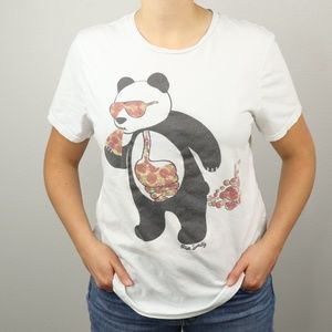 Riot Society Pizza Panda Adult XL T Shirt Bubble